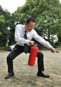 副ちゃん消火活動